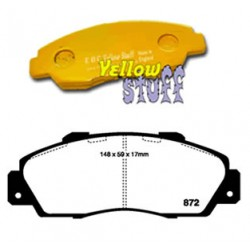 Plaquettes Avant EBC Yellow Accord/Integra/NSX