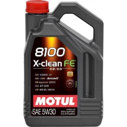 Huile Motul 8100 X-Clean FE 5W30